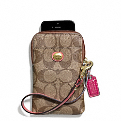 PEYTON SIGNATURE UNIVERSAL PHONE CASE COACH F68660