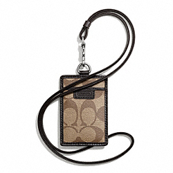 COACH HERITAGE SIGNATURE LANYARD - ONE COLOR - F68664