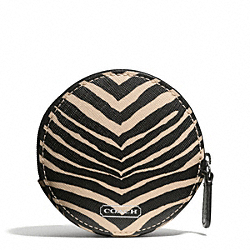 COACH ZEBRA PRINT COIN PURSE - ONE COLOR - F68668