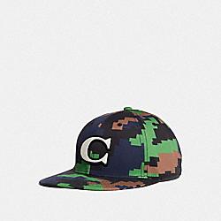 CAMO VARSITY C CAP - BLUE/GREEN - COACH F68794