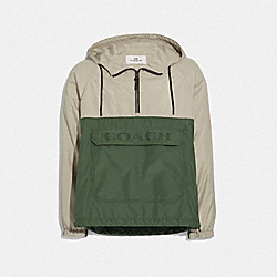 PACKABLE HALF ZIP JACKET - STONE/JUNIPER - COACH F68803
