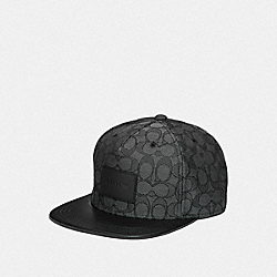 SIGNATURE FLAT BRIM HAT - BLACK/BLACK - COACH F68861