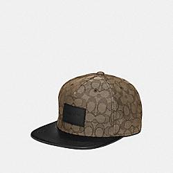 SIGNATURE FLAT BRIM HAT - KHAKI - COACH F68861
