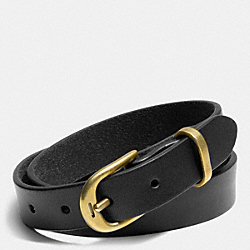 COACH COACH + PHILIP CRANGI DOUBLE WRAP LEATHER BRACELET - BLACK - F68899