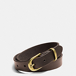 COACH PHILIP CRANGI DOUBLE WRAP LEATHER BRACELET - MAHOGANY - F68899