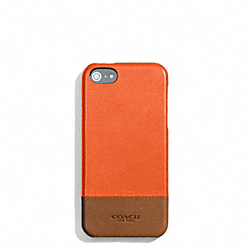 COACH BLEECKER COLORBLOCK LEATHER MOLDED IPHONE 5 CASE - SAMBA/FAWN - F68915