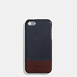 BLEECKER MOLDED IPHONE 5 CASE IN COLORBLOCK LEATHER - f68915 -  NAVY/CORDOVAN