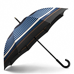 BLEECKER BAR STRIPE UMBRELLA - CADET/DARK ROYAL - COACH F68922