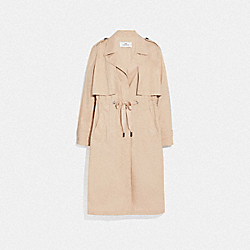 LIGHTWEIGHT OVERCOAT - LIGHT KHAKI - COACH F69042