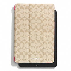 COACH PEYTON SIGNATURE IPAD MINI TRIFOLD CASE - CORN - F69078