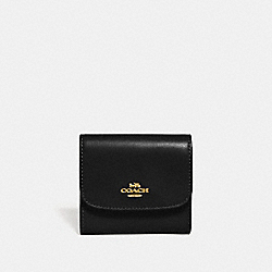 SMALL WALLET - BLACK/IMITATION GOLD - COACH F69124
