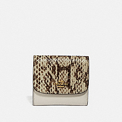 SMALL WALLET - CHALK MULTI/IMITATION GOLD - COACH F69125