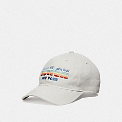 COACH STRIPES HAT - CHALK - COACH F69169