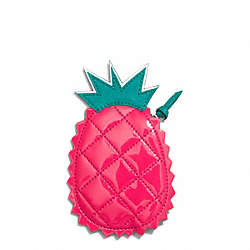 COACH PINEAPPLE MOTIF COIN PURSE - ONE COLOR - F69536