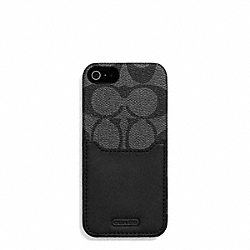 HERITAGE STRIPE IPHONE 5 CS WITH POCKET - f69708 - CHARCOAL/BLACK