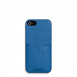 COACH LEXINGTON  SAFFIANO LEATHER IPHONE 5 CS WITH POCKET - MARINE, MARINA - F69709