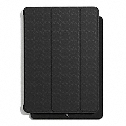 COACH SIGNATURE EMBOSSED MOLDED IPAD CASE - BLACK - F69713