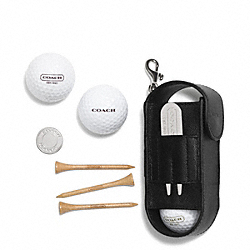 COACH GOLF BALL AND TOWEL GIFT SET - BLACK - F69717