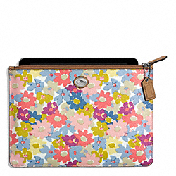 PEYTON FLORAL MEDIUM TECH POUCH COACH F69757