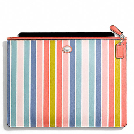 COACH PEYTON MULTISTRIPE LARGE TECH POUCH -  - f69760