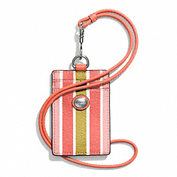 COACH PEYTON MULTISTRIPE LANYARD ID - ONE COLOR - F69805