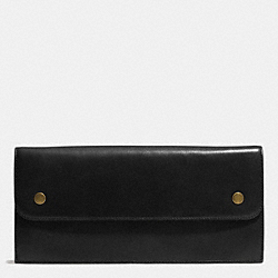 COACH BLEECKER LEATHER TRAVEL ORGANIZER - BLACK - F69897