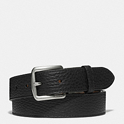 BLEECKER LEATHER REVERSIBLE BELT - FAWN/BLACK - COACH F69900