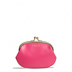 COACH DARCY COIN PURSE IN LEATHER - ONE COLOR - F69920