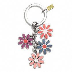 COACH FLOWER MIX KEY RING - ONE COLOR - F69937