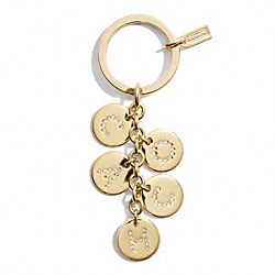 COACH LETTERS CHARM MIX KEY CHAIN - ONE COLOR - F69939