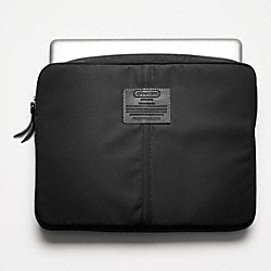 VARICK NYLON LAPTOP SLEEVE - SILVER/BLACK - COACH F70130