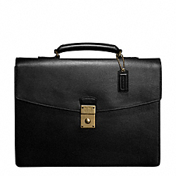 TEXTURED LEATHER LARGE ATTACHE