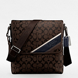 COACH HERITAGE STRIPE MAP BAG - ONE COLOR - F70333