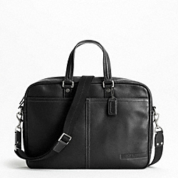 CAMDEN PEBBLED ZIP TOP BRIEF COACH F70354