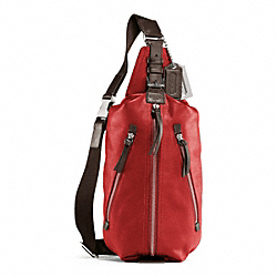 COACH THOMPSON LEATHER SLING PACK - CHILI - F70360