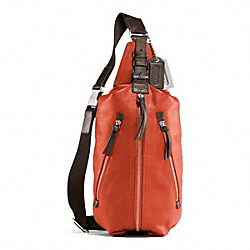 COACH THOMPSON LEATHER SLING PACK - PERSIMMON - F70360