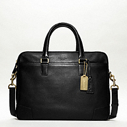CROSBY LEATHER COMMUTER - BRASS/BLACK - COACH F70478