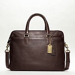 CROSBY LEATHER COMMUTER - OAK - COACH F70478