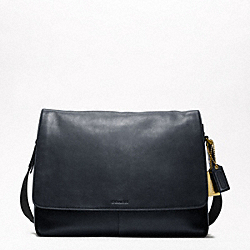 BLEECKER LEATHER COURIER BAG - BRASS/NAVY - COACH F70486