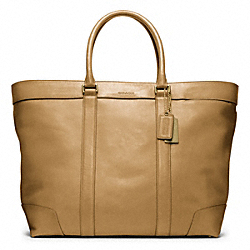 BLEECKER LEGACY LEATHER WEEKEND TOTE - BRASS/SAND - COACH F70487