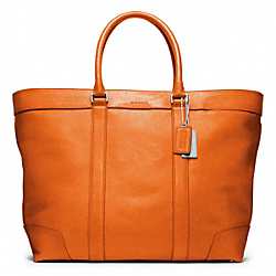 BLEECKER LEGACY LEATHER WEEKEND TOTE - SILVER/BONFIRE - COACH F70487