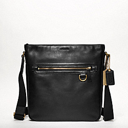 COACH BLEECKER LEATHER FIELD BAG - BLACK - F70488