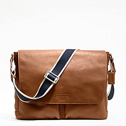 HERITAGE WEB LEATHER MESSENGER - SILVER/SADDLE - COACH F70556