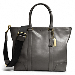 COACH BLEECKER LEATHER BUSINESS TOTE - ONE COLOR - F70600