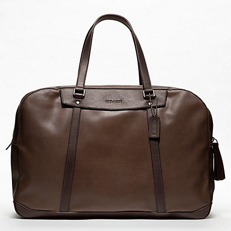 COACH BLEECKER EMBOSSED TEXTURED LEATHER TRAVEL DUFFLE -  - f70641