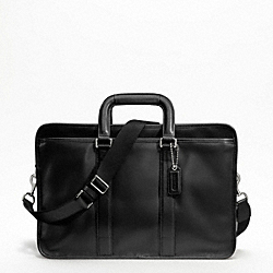 LEXINGTON LEATHER EMBASSY BRIEF - SILVER/BLACK - COACH F70662