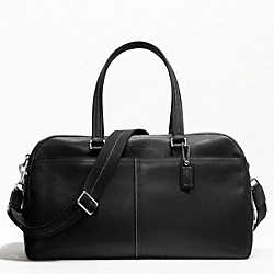 LEXINGTON LEATHER SLIM DUFFLE - SILVER/BLACK - COACH F70668