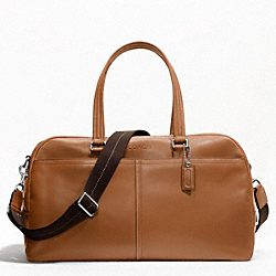 LEXINGTON LEATHER SLIM DUFFLE - SILVER/SADDLE - COACH F70668