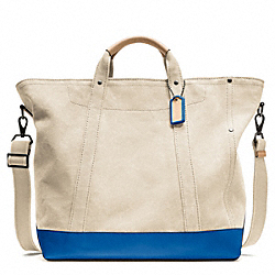 COACH WASHED CANVAS BEACH TOTE - SALT - F70688