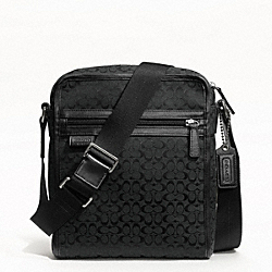 SIGNATURE JACQUARD FLIGHT BAG COACH F70698